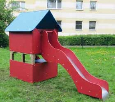 Beliebt Spielhaus mit Rutsche aus Edelstahlrutschblech TI99